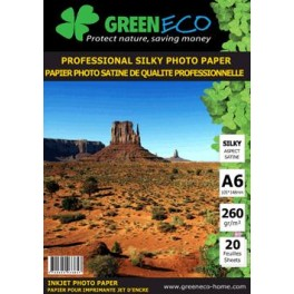 Papier Photo Satiné A6 Professional 260 GR - 20 feuilles PHOTOA6SAT