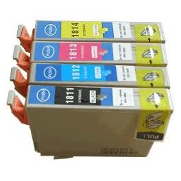 Pack cartouches compatibles pour Epson XP-30/102/202/305/405 (T1816) Puce BK*14ml+M/C/Y*10ml E1816PACKN