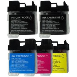 Pack jet d'encre compatible Brother MFC 290/490/790/990(LC980/LC1100/LC61)2*BK28ml+C/M/Y19ml 00691XPACKN
