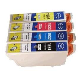 Pack 4 cartouches compatibles pour Epson 2010W/2510WF/2530WF/2540WF (T1636)  Puce BK/C/M/Y  17 ML +3 x 11.6 ML E1636PACKN