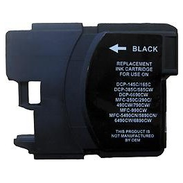 cartouche jet d'encre compatible Brother MFC 290/490/790/990/5490 (LC980/LC1100/LC61) Black 28ml 00691X
